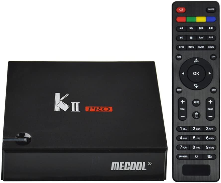 Docooler MECOOL KII Pro Android TV Box + DVB-S / S2 y DVB-T / T2 y DVB-C STB Android 7.1 Amlogic S905D Quad-Core 2GB / 16GB 4K 2.4G y 5.0G WiFi y LAN H.265 DLNA Enchufe de la UE