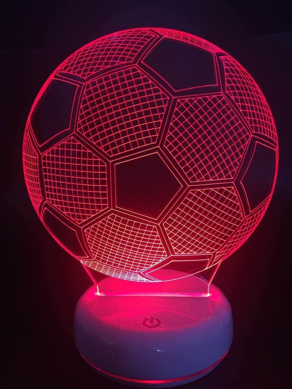 DONJON lámpara de noche LED balón de fútbol con control remoto inalámbrico 16 colores para habitaciones de niños (regalo de cumpleaños, regalo de navidad,etc…)