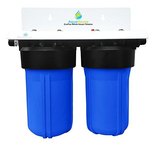 EcoPlus Sistema de filtrado de agua para todo el hogar y descalcificador de agua sin sal, efectividad probada del 99.6%, prevención de óxido