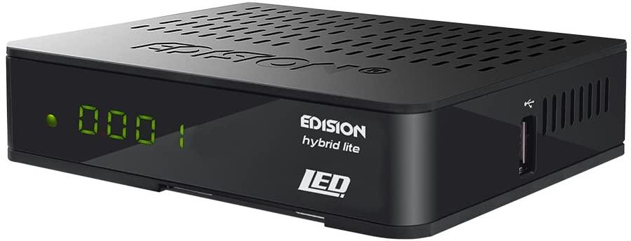 Edision Progressiv Hybrid Lite - Receptor LED de DVB-T/cable/digital terrestre y TDT (Full HD, HDMI, SCART, S/PDIF, USB, WiFi, Internet, pantalla), color negro (servicio no garantizado en todos los países)