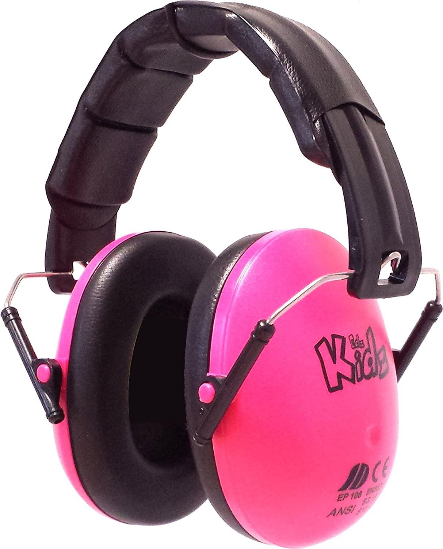 EDZ Kidz - niños ajustable reducción de ruido orejeras protecciones para los oídos (Rosa)