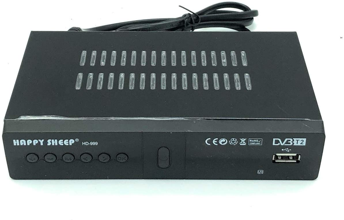 Elettrico-Store - Decodificador/Receptor para Televisión Digital Terrestre HD-999/DVB-T2 - TV Scart HDMI - Full HD 1080p - REG PVR HD