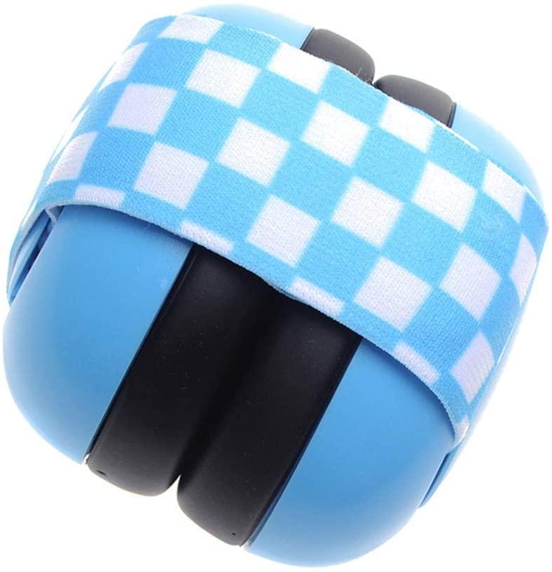 EliteMill Bebé Protección Oídos Antirruido Orejeras Reducción Ruido Auriculares con Elástico Banda - Azul