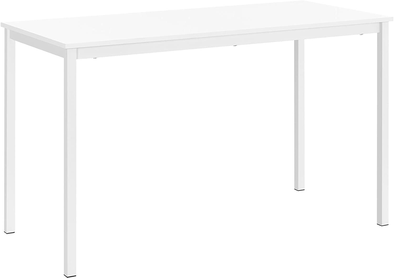 [en.casa] Mesa de Comedor de diseño Elegante, Estructura Estable - Blanco