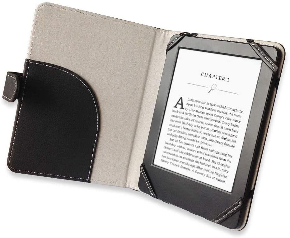 """EnjoyUnique - Funda Universal para Lector de Libros electrónicos Kobo Kindle Sony Pocketook Tolino Ereader de 6"""", Color Negro"""