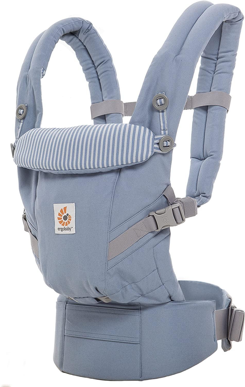 Ergobaby Mochila Portabebé Ergonomica para Recién Nacido, Adapt 3-Posiciones Azul Celeste