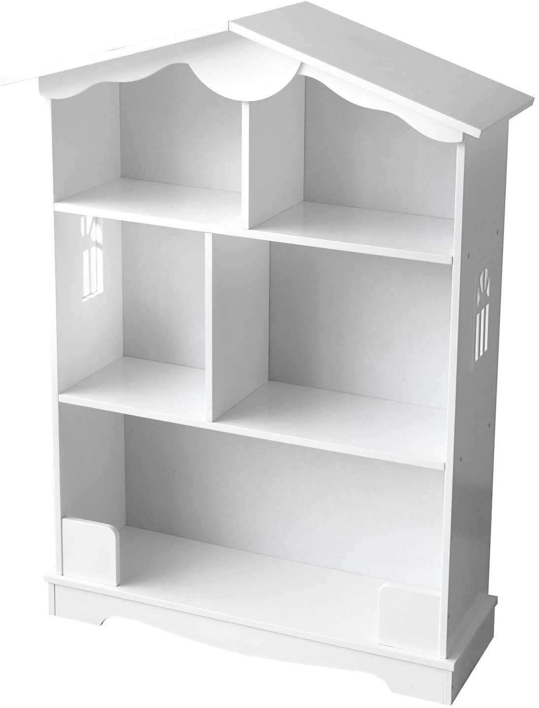 Estantería De Madera Estantería Para Libros Habitación Librero Para Niños Biblioteca Multiuso Almacenamiento y Organización Para Juguetes Color Blanco