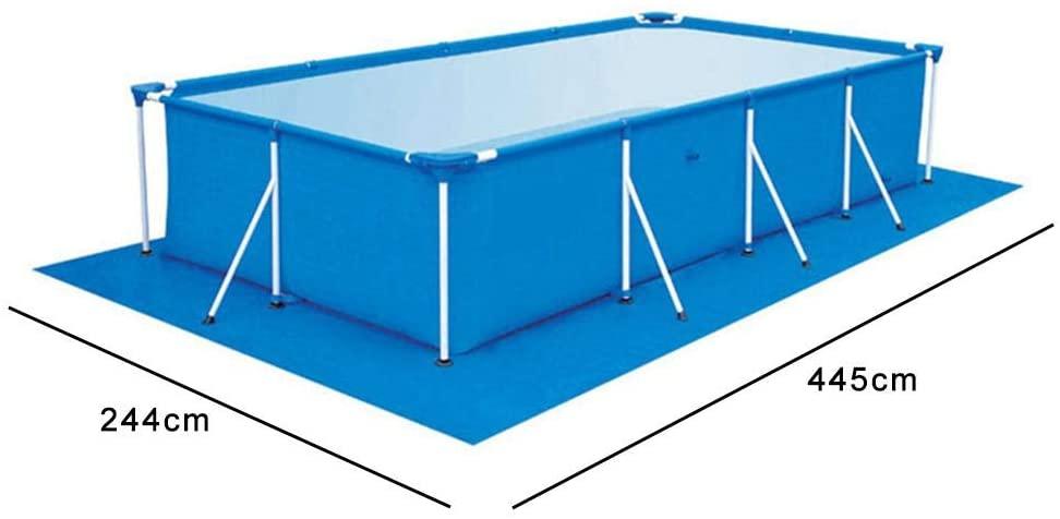 Estera cuadrada de la piscina Paño de la piscina inflable Almohadillas protectoras rectangulares del piso de la piscina Piscinas sobre el suelo Estera fácil de limpiar para la piscina