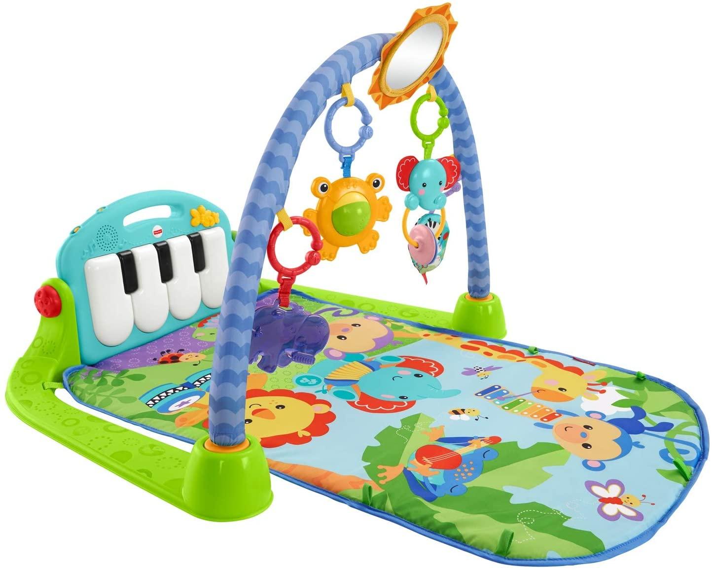 Fisher-Price - Gimnasio-Piano Pataditas, Manta de Juego para Bebé (Mattel BMH49)