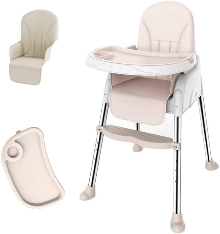 FLM Trona para Bebé con Cinturón de Seguridad - Trona para Bebés con Doble Bandeja Extraíble y la Silla de Altura Ajustable