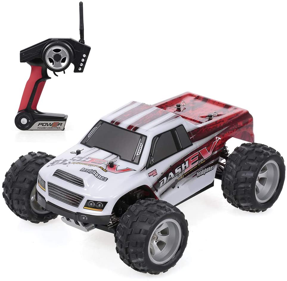 Goolsky WLtoys Coche A979-B 2.4G 1/18 Escala 4WD 70KM / h Alta velocidad RTR Monster Truck RC Car