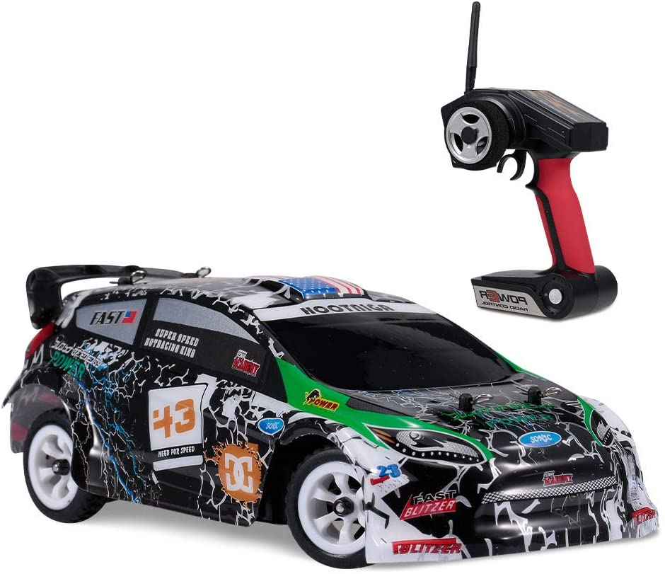 Goolsky WLtoys Coche RC K989 1/28 RC Drift Car 2.4G 30KM / H Alta Velocidad RC Car 4WD RC Race Car RC Sport Racing Drift Car Regalo para Niños