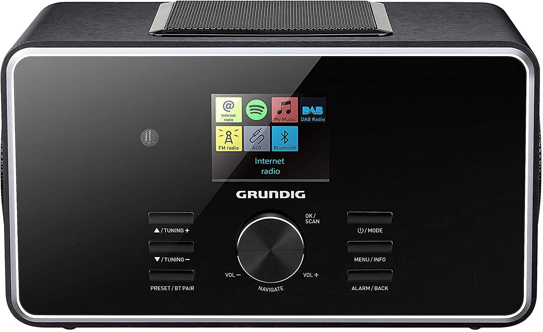 """Grundig DTR 6000 2.1 BT Dab+ Internet Digital Negro - Radio (Internet, Digital, Am,Dab+,FM, 14 W, 6,1 cm (2.4""""), Negro)"""