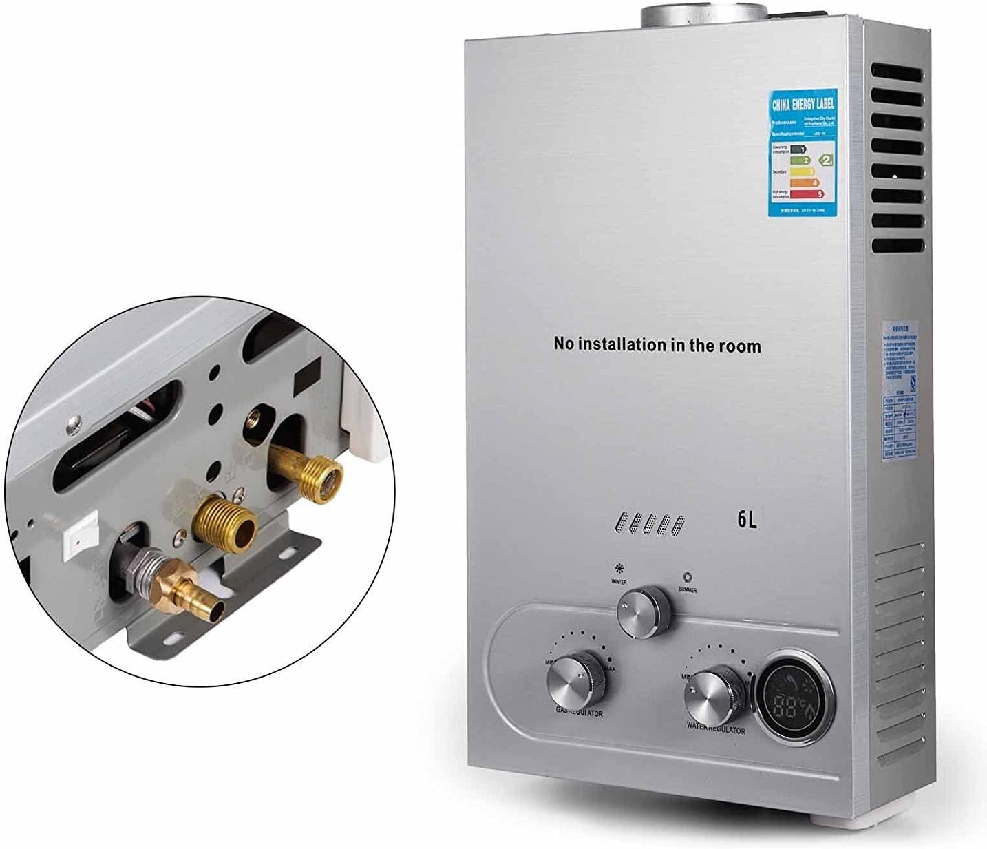 Guellin LNG Calentador de Agua de Gas Natural Calentador de Agua Calentador de Agua Automático Calentador de Agua Instantáneo Natural Gas Water Heater (6L)