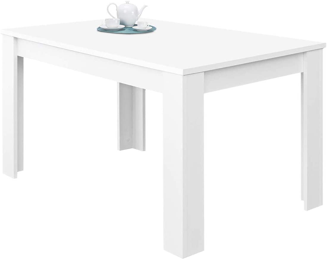 Habitdesign 004586BO - Mesa de Comedor Extensible, Mesa salón o Cocina, Acabado en Color Blanco Brillo, Modelo Kendra, Medidas: 140-190 cm (Largo) x 90 cm (Ancho) x 78 cm (Alto)