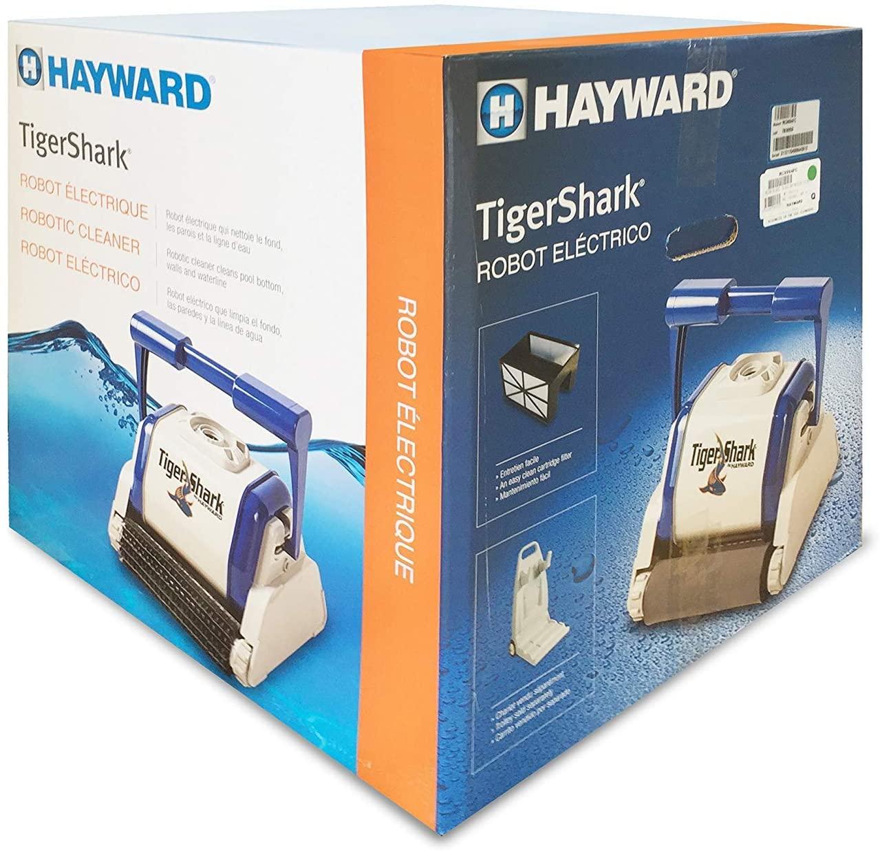 Hayward Tiger Shark QC, Limpiafondos automático (Suelo Paredes y línea de flotación), Gris