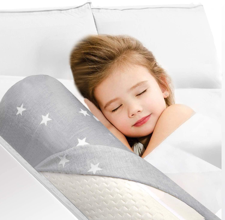 HBselect Espuma Barandilla Cama Seguridad Bebe Niño,Barrera Cama Suave y Portátil Barandilla Protección De Cama Para Bebe Niñas