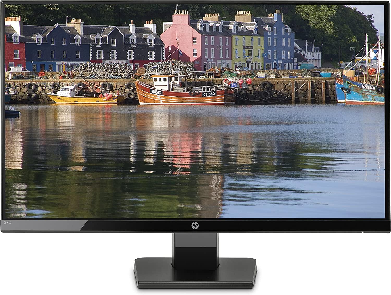 "HP 27w - Monitor de 27"" (Full HD, 1920 x 1080 pixeles, Plug and Play, IPS, HDMI, VGA, 1000:1, 16:9), Color Negro"