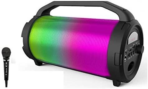 iDance Cyclone 400 - Altavoz portátil con Karaoke (Bluetooth, MP3, USB, FM Radio, Sistema de Luces de Fiesta)