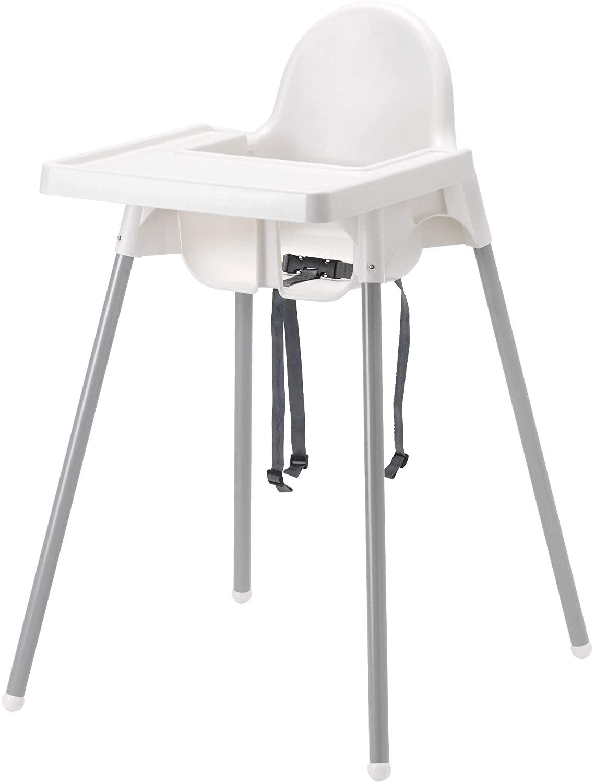IKEA ANTILOP - Trona con bandeja, plata color