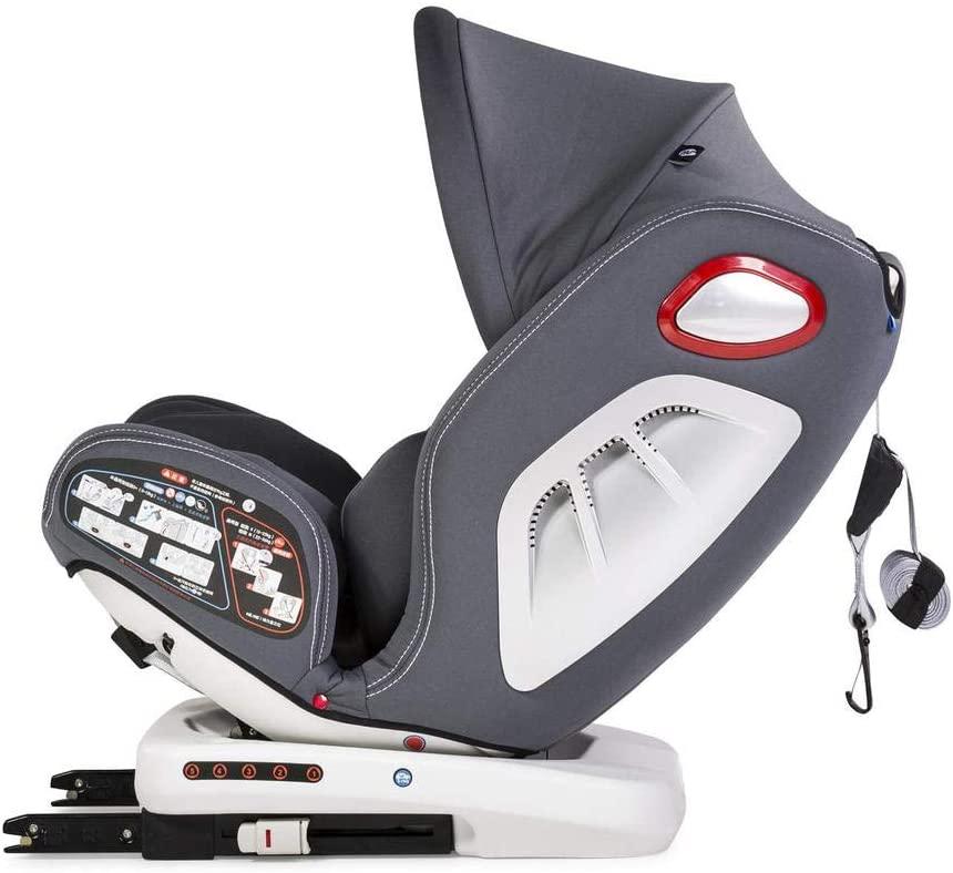 Innovaciones MS Discover Dual Giratoria 862 Silla de Coche Grupo 0/1/2/3, 0/36 Kilos, 62 X 56 X 45 cm, Gris