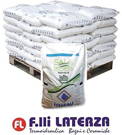 italkali depurel Sal Natural Descalcificador en Pastillas sacos de 25kg–palé de 10Bolsas
