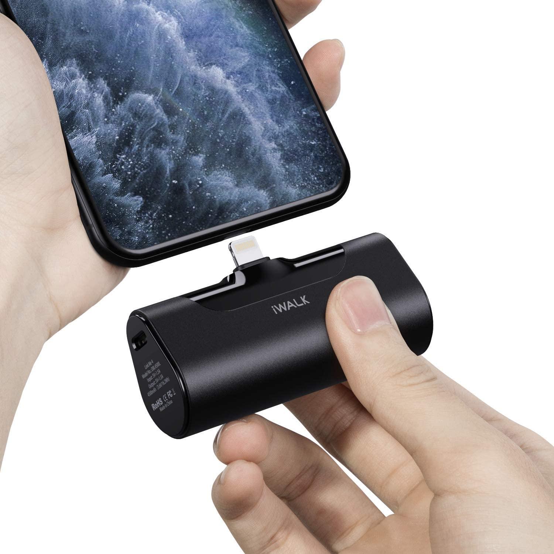iWALK Mini Cargador Portátil, Banco de Energía Ultra Compacto de 4500 mAh, Batería Externa Pequeña y Linda Compatible con iPhone 11 Pro/XS MAX/XR/X / 8/7/6 / Plus, AirPods y Más