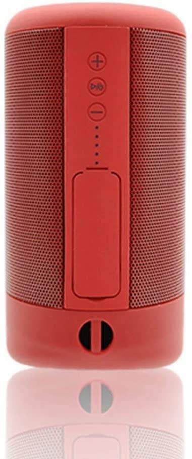 JHMAOYI - Altavoz Bluetooth 2020 con cañón de acero pequeño, resistente al agua, mini altavoz inalámbrico portátil para exteriores 12.8CM * 7.0CM China rojo