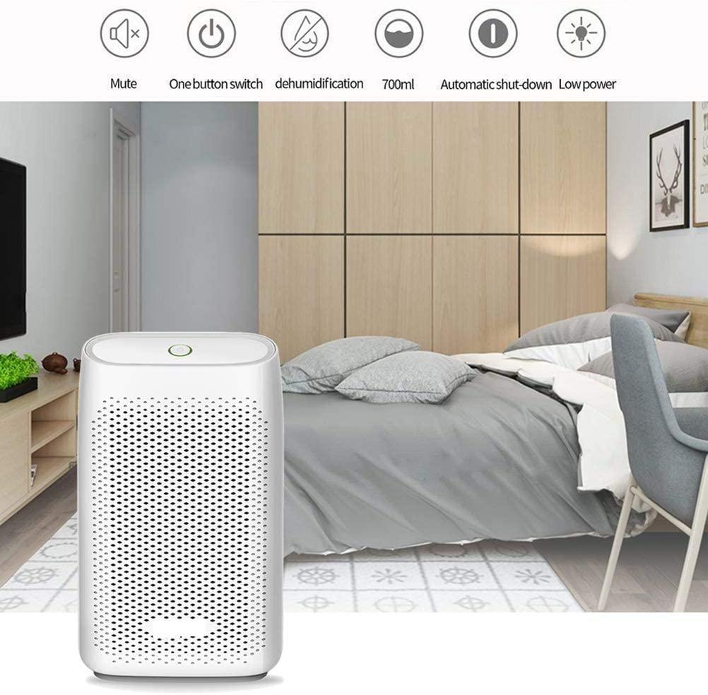 Jilisay Aire Deshumidificadores 700 ml de Aire portátil for Secadora eléctrica deshumidificador for Office Dormitorio Principal sótano 1pc Cocina - Enchufe de Reino Unido ozono hogar