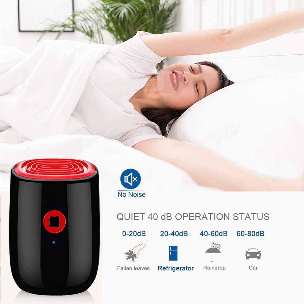 Jilisay Aire Deshumidificadores 800ml portátil silencioso secador de Aire deshumidificador for Office Dormitorio Principal sótano 1pc Cocina - Enchufe de Reino Unido ozono hogar