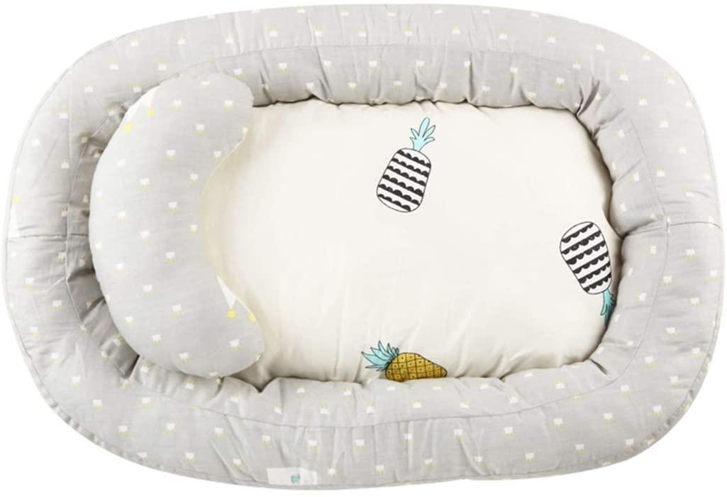 Jiyaru Nido Cuna Suave para Bebé, Baby Nest Reductor Protector Portátil de Viaje Respirable, Tumbona Cama para Dormir para Bebés con Almohadilla Extraíble