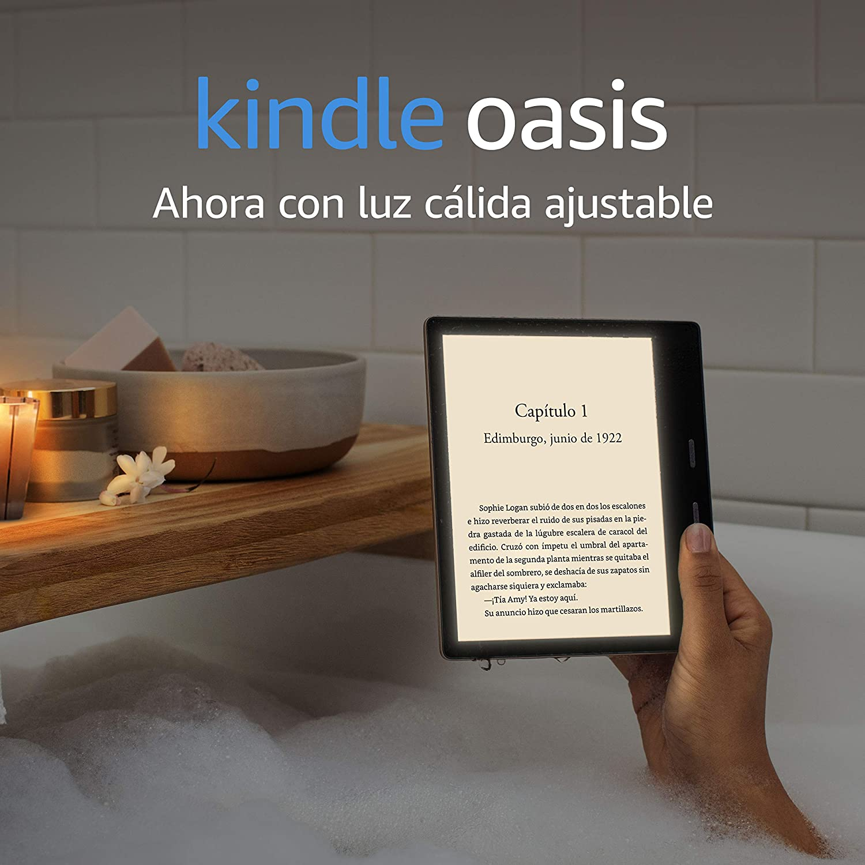 Kindle Oasis, ahora con luz cálida ajustable, resistente al agua, 32 GB, wifi, dorado