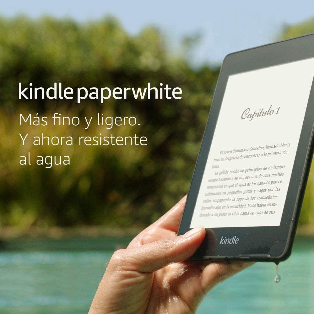 """Kindle Paperwhite - Resistente al agua, pantalla de alta resolución de 6"""", 32 GB, incluye ofertas especiales"""