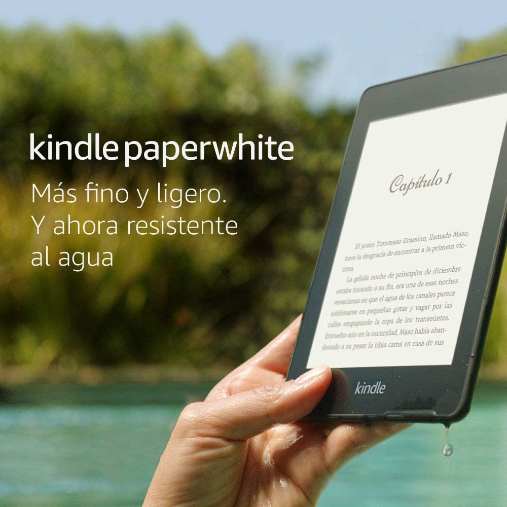 """Kindle Paperwhite - Resistente al agua, pantalla de alta resolución de 6"""", 32 GB, sin ofertas especiales"""