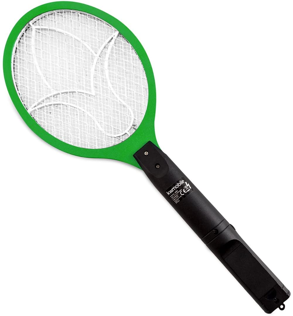kwmobile eléctrica Mata Raqueta pequeña Verde-Exterminadora de Hormiga con Mango