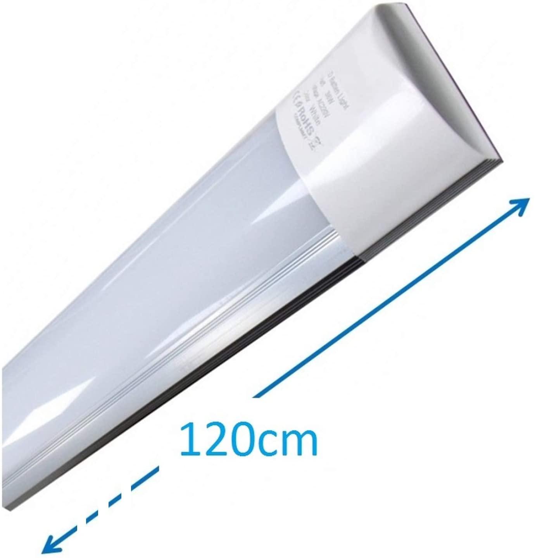 (LA) Luminaria LED de Superficie 120 cm, 40w, Blanco Frio (6500K). Mas luz que los antiguos fluorescentes. 3300 lumenes reales. (120cm) [Clase de eficiencia energética A++]