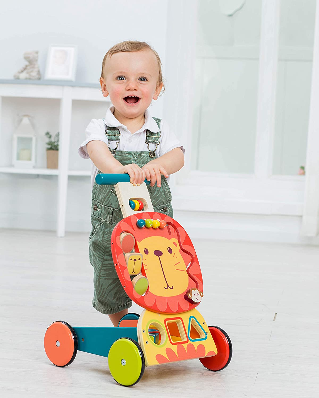 Labebe Andador de Madera, Uso 2 en 1 como Carrito, White Fuchs Andador para 1-3 Años, Sin Caminar Paseador/Andador de Bebé Madera/Andador Andador de Madera/Bebé Madera…