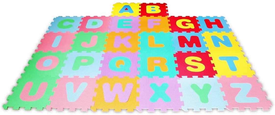 Lalaloom LEARNMAT - Alfombra Infantil y de Juego didáctica para Niños, Alfombra Letras Puzzle bebé habitación de espuma EVA para Niños