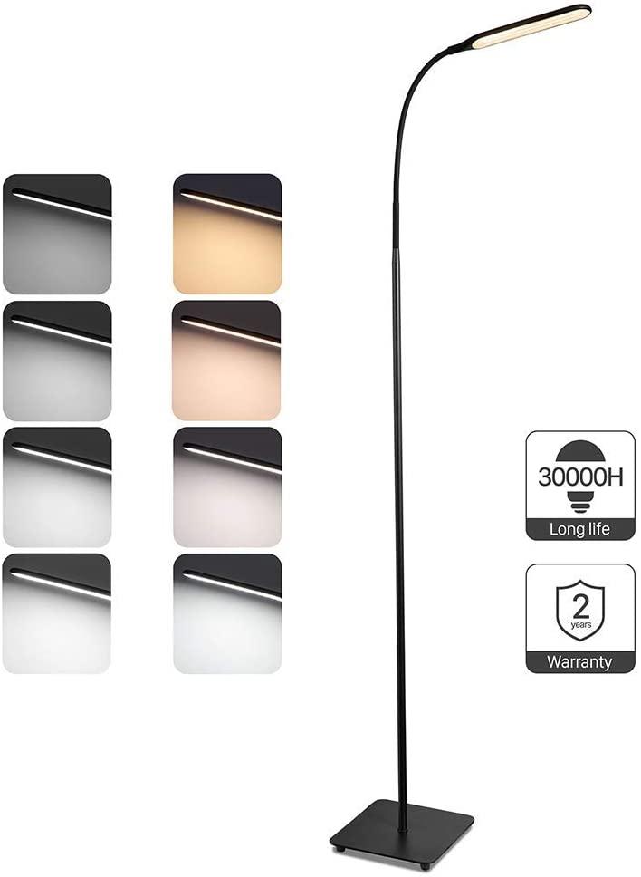 Lampara de pie LED Regulable TaoTronics Luz de Pie para Salon, Dormitorio, Estudio y Leer, Diseño Moderno, Luz cuidado Ojos,Bajo Consumo
