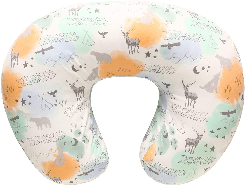 LAT LEE AND TOWN Funda para cojín de lactancia,Almohadas para lactancia, Funda de almohada para embarazadas 100% algodón para, Estuche para almohada para lactantes recién nacido(Animal)