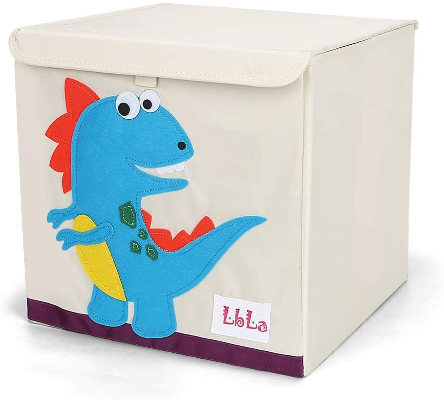 LBLA Caja de Juguetes y Almacenamiento con Tapa,Para niños y niñas, Dinosaurio Caja