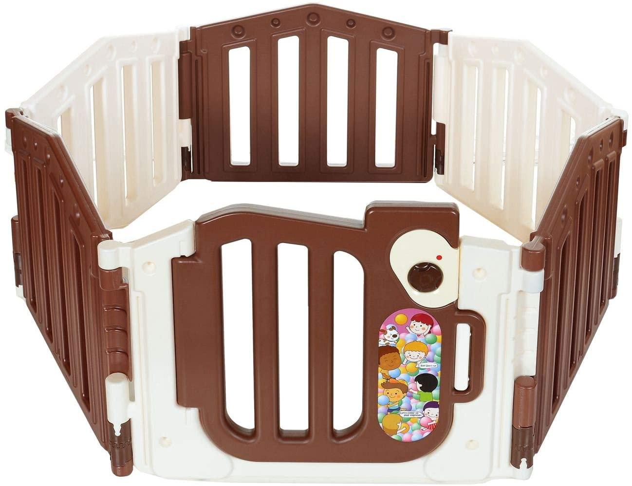 Extra Alto 66 cm Patio de Juegos Plegable de Seguridad con colchoneta y aro de Baloncesto Rojo//Azul Parque beb/és YXX Corralito Parque Infantil Grande para beb/és peque/ños para Camas gemelas