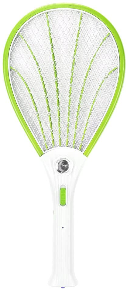 LED Electric Bug Zapper Raqueta Fly, ABEDOE Fly Swat Wasp Bug en el exterior Outdoors Insect Mosquito Bug Killer EU Plug-power (Green)
