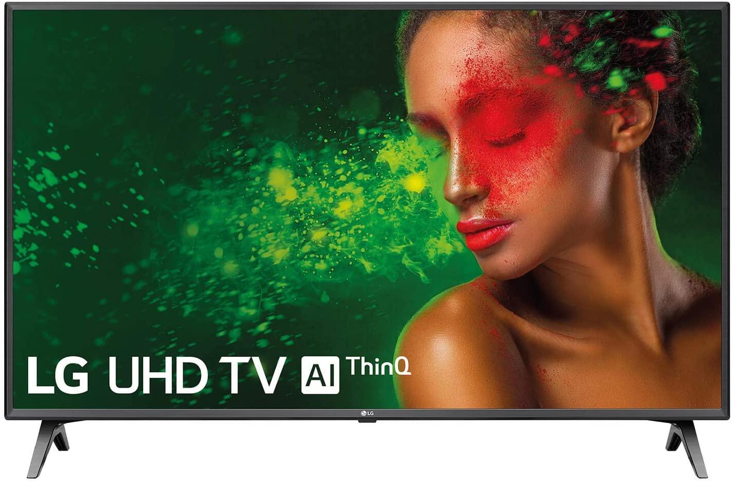 "LG 43UM7500PLA - Smart TV 4K, UHD, de 108 cm, 43"", Works With Alexa (Panel IPS, HDR, webOS 4.5, Alexa, Asistente de Google, Procesador Quad Core, Sonido DTS Virtual:X), Color Negro [Clase de eficiencia energética A]"