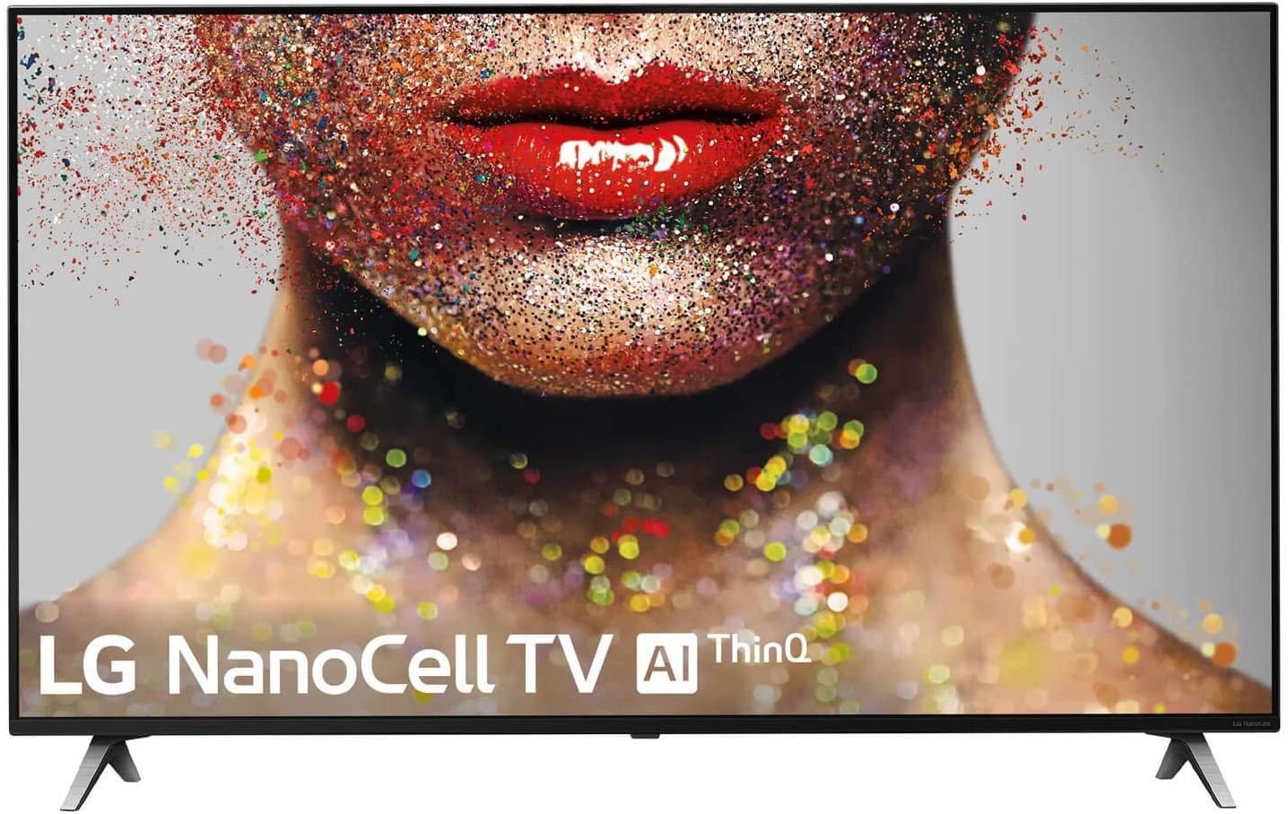 """LG 55SM8500ALEXA - Smart TV NanoCell 4K UHD de 139 cm (55"""") con Alexa Integrada (procesador Inteligente Alpha 7 Gen. 2, Deep Learning, 100% HDR y Dolby Atmos) Color Negro [Clase de eficiencia energética A]"""