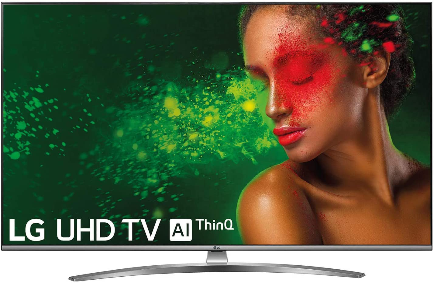 "LG 55UM7610PLB - Smart TV 4K UHD de 139 cm (55"") con Alexa Integrada, Inteligencia Artificial (Panel IPS, HDR, webOS 4.5, Asistente de Google, Procesador Quad Core, Sonido DTS Virtual:X) Color Acero [Clase de eficiencia energética A]"