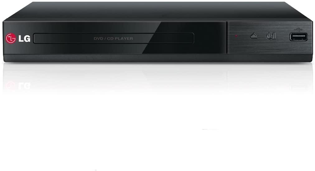 LG DP132 - Reproductor de DVD con entrada USB y RCA (formatos AVCHD, DIVX, DIVX HD, MPEG2, MPEGA), color negro