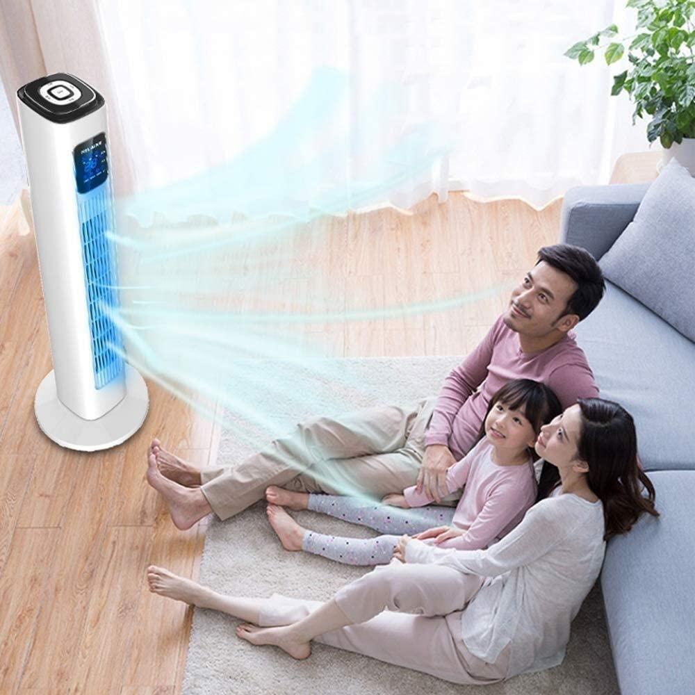 LITING Mini refrigerador de Aire, Ventilador de Torre Digital Inteligente, enfriadores de Aire Acondicionado refrigerados por Agua, Tres velocidades, Control Remoto, 45 W