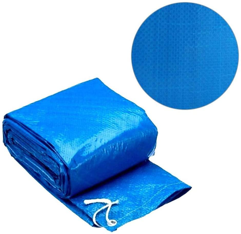 Lonas De Piscina Para Piscinas Redondas Sobre El Nivel Del Suelo, Cubiertas Para Piscinas Cubiertas Impermeables Cubiertas Para El Polvo, Azul, 4.5 Pies De Diámetro