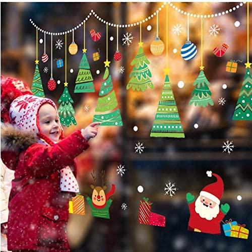 Lsping 2020 Feliz Navidad Pegatinas de pared Ventana Vidrio Festival Calcomanías de pared Murales de Santa Año Nuevo Decoraciones navideñas para decoración del hogar